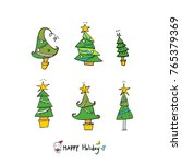 hand drawn illustration set  ... | Shutterstock .eps vector #765379369
