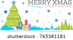 merry xmas and happy new year... | Shutterstock .eps vector #765381181