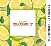 square white label on citrus... | Shutterstock .eps vector #765383881