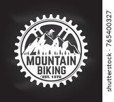 mountain biking. vector... | Shutterstock .eps vector #765400327