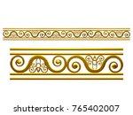 golden  ornamental segment  ... | Shutterstock . vector #765402007