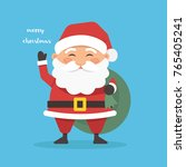 vector illustration with santa... | Shutterstock .eps vector #765405241