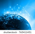 earth from space. best internet ... | Shutterstock . vector #765411451