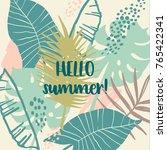 summer tropical design. vector... | Shutterstock .eps vector #765422341