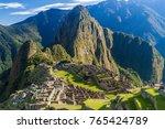 machu picchu ruins  peru | Shutterstock . vector #765424789