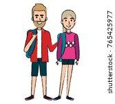 students couple avatars... | Shutterstock .eps vector #765425977