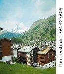beautiful mountain landscape... | Shutterstock . vector #765427609