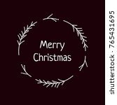 merry christmas hand drawn... | Shutterstock .eps vector #765431695