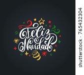 feliz navidad translated from... | Shutterstock .eps vector #765432304