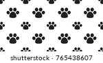 dog paw foot print cat paw... | Shutterstock .eps vector #765438607
