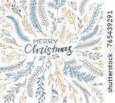 hand drawn vector illustration  ... | Shutterstock .eps vector #765439291