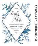 wedding invite  invitation ... | Shutterstock .eps vector #765442681