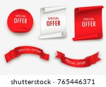 special offer vector ribbon.red ... | Shutterstock .eps vector #765446371