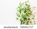 micro greens sprouts isolated... | Shutterstock . vector #765451717