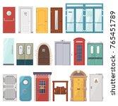 doors vector front entrance... | Shutterstock .eps vector #765451789