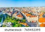 aerial view of praca de lisboa...   Shutterstock . vector #765452395