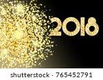 vector golden glitter dust... | Shutterstock .eps vector #765452791