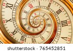 antique old spiral clock... | Shutterstock . vector #765452851