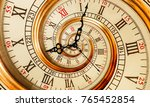 antique old clock abstract... | Shutterstock . vector #765452854