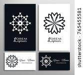 mandala sign symbol  black and...   Shutterstock .eps vector #765455581