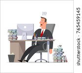 cartoon character  a tired... | Shutterstock .eps vector #765459145