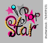 pop star illustration with... | Shutterstock .eps vector #765459151