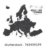 vector illustration of a map of ... | Shutterstock .eps vector #765459199