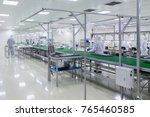manufacturing of television sets | Shutterstock . vector #765460585