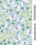 sweet flower art pattern design | Shutterstock .eps vector #765464581