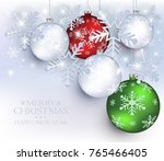 christmas ball snow flake star...   Shutterstock .eps vector #765466405