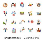 marketing icon set | Shutterstock .eps vector #765466441