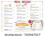 restaurant cafe menu design in... | Shutterstock .eps vector #765467017