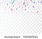 colorful bright confetti... | Shutterstock .eps vector #765469531