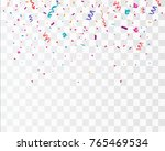 colorful bright confetti... | Shutterstock .eps vector #765469534