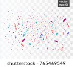 colorful bright confetti... | Shutterstock .eps vector #765469549