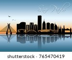 sao paulo skyline   brazil  ... | Shutterstock .eps vector #765470419