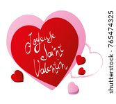french happy valentines day... | Shutterstock .eps vector #765474325