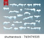 snow  ice cap. snowfall with... | Shutterstock .eps vector #765474535