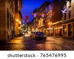 christmas lighting on the... | Shutterstock . vector #765476995