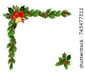 christmas festiveholly design...   Shutterstock .eps vector #765477511
