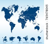 world map. europe asia america... | Shutterstock .eps vector #765478045