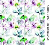 seamless pattern with stylized... | Shutterstock . vector #765478897