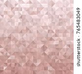 Stock vector rose gold geometric low poly vector background pink metallic gradient faceted pattern shiny 765483049