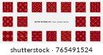 asian patterns set. kabuki.... | Shutterstock .eps vector #765491524