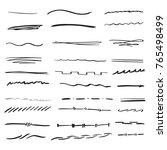 random hand drawn lines doodle... | Shutterstock .eps vector #765498499