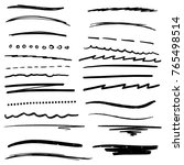random hand drawn lines doodle... | Shutterstock .eps vector #765498514