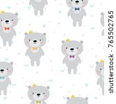 cute seamless pattern with...   Shutterstock .eps vector #765502765