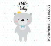 hello baby. cute card with... | Shutterstock .eps vector #765502771