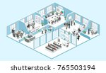 isometric flat 3d abstract... | Shutterstock .eps vector #765503194
