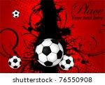 soccer ball on grunge...   Shutterstock .eps vector #76550908
